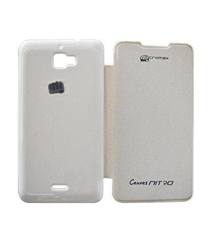 Micromax Canvas Nitro A310 Flip Cover - White