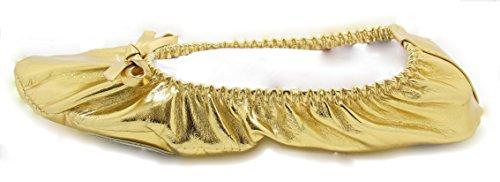 The Turkish Emporium Turkish Emporium Bauchtanz Schläppchen Kostüm Schuhe (38, Gold) (Gold Ballerinas Schuhe)