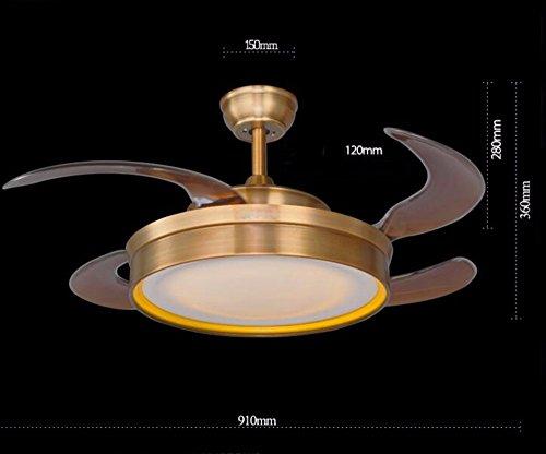 Sdkky invisibile ventilatore da soffitto ventilatore lampada