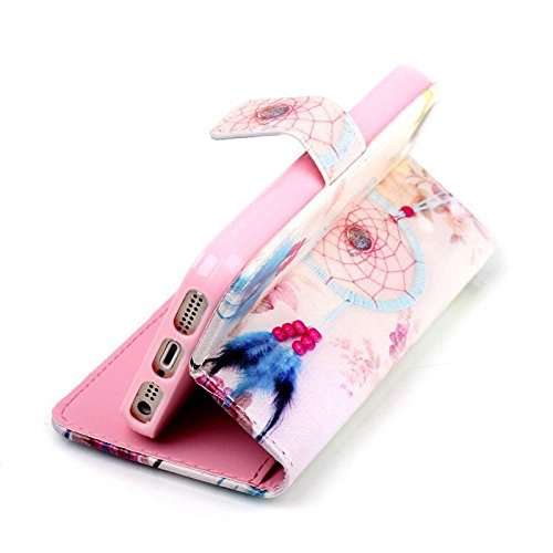 iPhone 5S Coque, cowx Étui de protection Etui en cuir pour iPhone 5S 5 Étui en cuir PU Case Coque, iPhone 5, iPhone 5S 5 Case, housse support portefeuille pour iPhone 5S 5 poches Bols für Apple Iphone beige