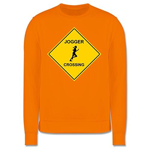Laufsport - Joggerin - Herren Premium Pullover Orange