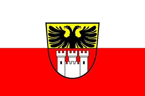 magFlags Flagge: Large Stadt Duisburg | Querformat Fahne | 1.35m² | 90x150cm » Fahne 100% Made in Germany