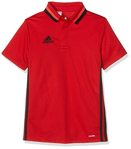 adidas Kinder Con16 Cl Polo Y, scarlet/schwarz, 116, AJ6904 (T-shirt Kinder Scarlet)