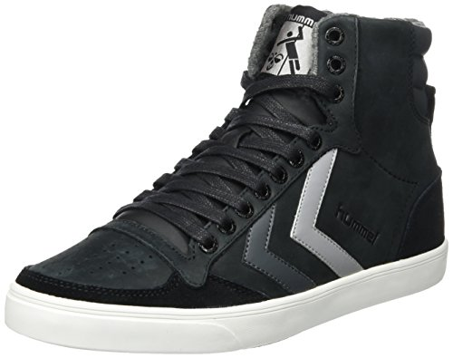 Hummel Unisex-Erwachsene Slimmer Stadil Duo Oiled High Hohe Sneaker Schwarz (Black)