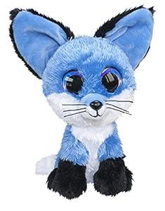 LUMO STARS Fox Blueberry Animales de Juguete Felpa Negro, Azul, Blanco - Juguetes de Peluche (Animales de Juguete, Negro, Azul, Blanco, Felpa, 3 año(s), Zorro, Niño/niña)