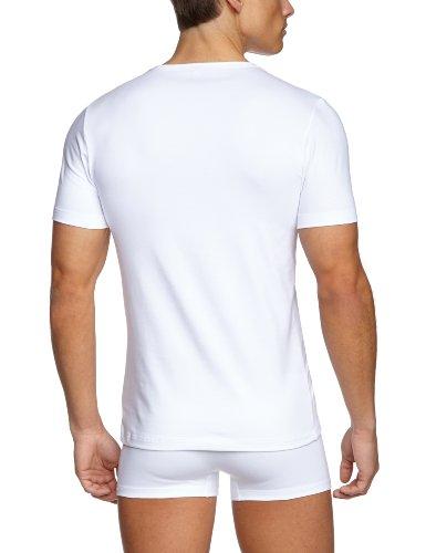 Skiny Herren T-Shirts Essentials Men V-Shirt Kurzarm Weiß (0500 WHITE)