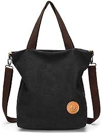 63168f986213f JANSBEN Damen Canvas Handtasche Schultertasche Casual Multifunktionale  Umhängetaschen Groß für…