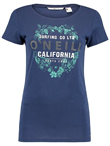 Damen T-Shirt O'Neill Logo T-Shirt Atlantic Blue