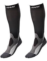 Calcetines compresores deportivos (PAR) unisex - Todos los deportes - Calcetines de compresión gradual de 100 % estándar para un mejor rendimiento y resistencia - 20 a 30 mmHg …