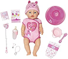 """Zapf Creation 824368"""" Baby Born Soft Touch Girl Blue Eyes Puppe, bunt"""