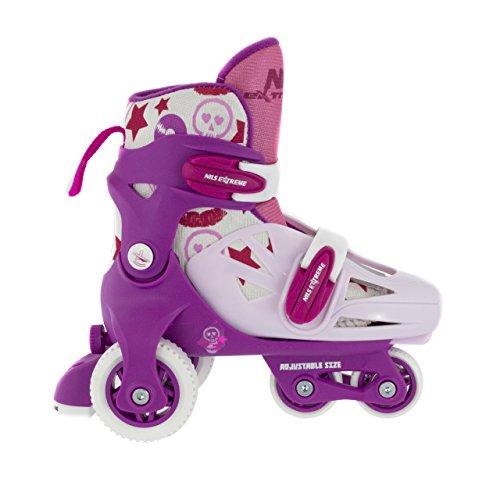Kinder Rollschuhe verstellbar Inlineskates 4 Räder NA 6147NA Nils Extreme