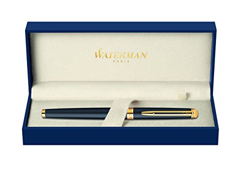 waterman-s0920750-hemisphere-rollerball-pen-with-fine-nib-matte-black-with-gold-trim