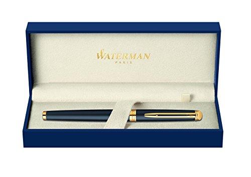 waterman-hemisphere-gold-trim-fountain-pen-medium-nib-matte-black