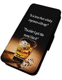 Funny Quote Whisky–Alcohol edad I Get–Funda con tapa tipo cartera funda Apple Iphone 5/5s/SE