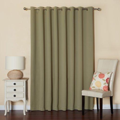 Best Home Fashion Vorhang aus Edelstahl, mit Ösen, breit, silberfarben 100