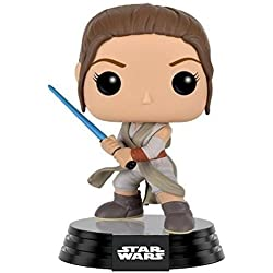 Funko Pop! - Bobble: Star Wars: E7 TFA: Rey with Lightsaber, Color, Estándar (9618)