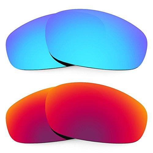Revant Ersatzlinsen für Oakley Split Jacket Polarisiert 2 Paar Kombipack K005