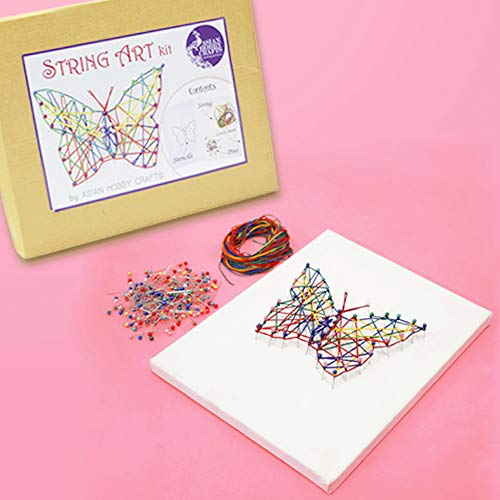 Asian Hobby Crafts 3D String Art DIY Kit: 10 x 8 inch