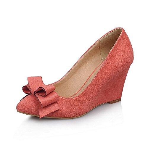 BalaMasa satinato, da donna, stile Mary Jane, con pompe-Shoes Pink
