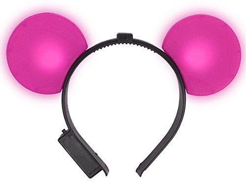 Alsino Maus Ohren Mouseohren Haareif blinkend alle Farben, Farbe - Blinky Lichter Halloween