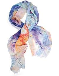 Damen Schal PASTEL FLOWERS - Kashmir-Mischgewebe (CMO-001-05)<br />