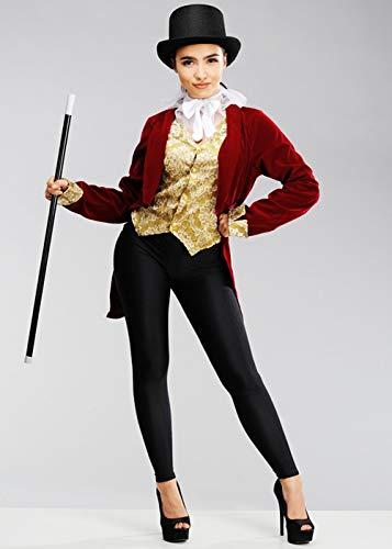 Magic Box Int. Womens größte Showman Style Ringmaster Kostüm XS (UK6-8)