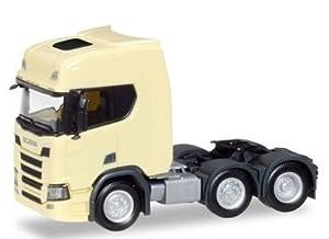 Herpa 308816 Scania CR 20 HD - Tractor rígido (6 x 2), Color Amarillo Claro