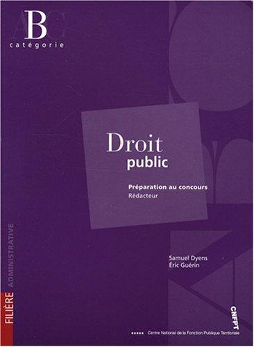 Droit public : Préparation au concours rédacteur catégorie B