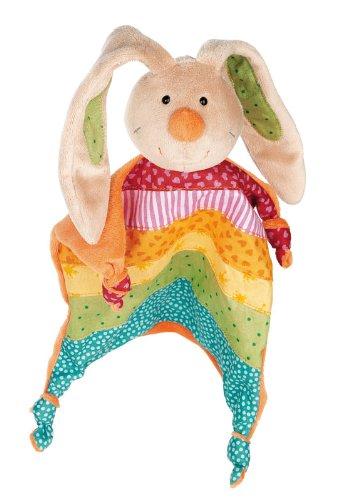 sigikid, Mädchen, Schnuffeltuch Hase, Rainbow Rabbit, Mehrfarbig, 40576 (Band Rainbow Baumwolle)