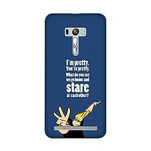 Wrapit Comic Superhero Johny Bravo Stare Hard Back Case Cover For Asus Zenfone Selfie