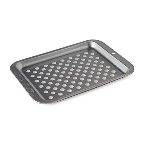 Nordic Ware 47090 Naturals Kompaktes Crisp-Tablett, silberfarben (Toaster Ofen Backen Pfanne)