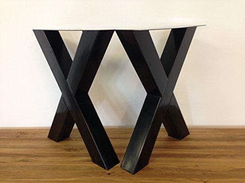 Tischgestell Stahl TUX590s / Gesamthöhe: 720mm / Gesamtbreite: 590mm / Tischuntergestell Tischkufe Kufengestell Tischkreuz