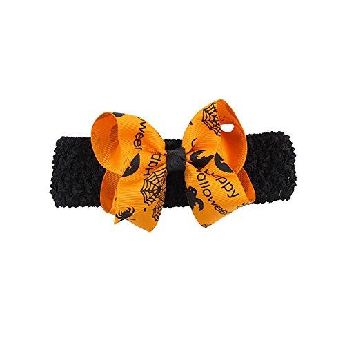 Hosaire 1x Einfaches Kinder Stoff Haarschmuck Niedlich Baby Haarband Halloween Party Zubehör Haarspange Haarklammern Party Gadgets Orange