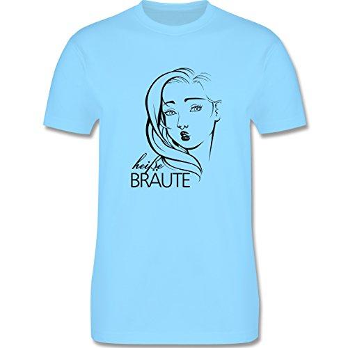 Statement Shirts - Heiße Bräute - Herren Premium T-Shirt Hellblau