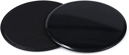 SLYK Core Unisex 2 Dual Sided Gliding Discs for Carpet and Hard Floors, Sliders for Abdominal Exercise