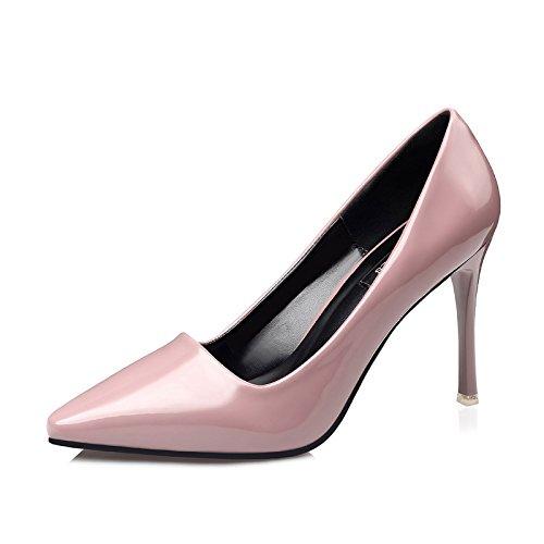 FLYRCX Moda Europea multa semplice con bocca poco profonda pelle tacchi alti sexy lady singole parti di calzature D