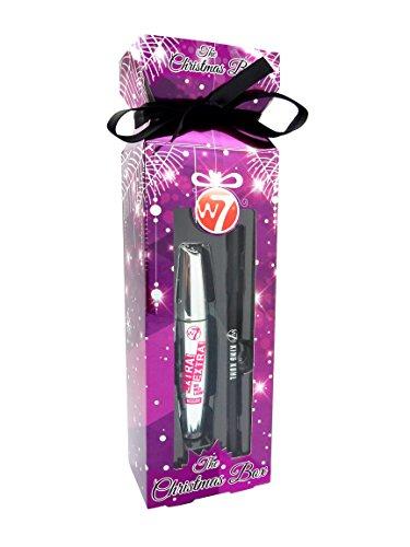 W7 The Christmas Box Purple 2 Piece Set 1 x Extra Extra Mascara + 1 x King Kohl Eyeliner