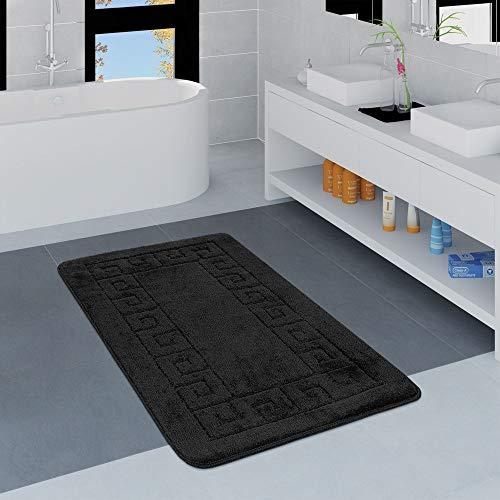 Paco Home Tappeto per Esterno e per Interno Motivo Geometrico Grigio Dimensione:60x100 cm