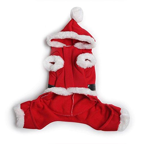 morjava Santa Claus Pet Kostüme Hund Weihnachten Katze Kleidung Winter Mantel Hoodie (Taco Kostüme Hund)