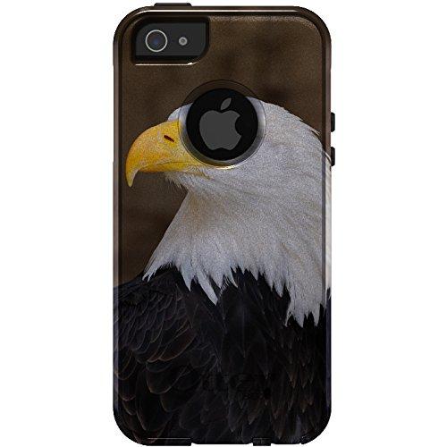 DistinctInk Disctinctink Fall für iPhone 5 / 5S / Se Otterbox Commuter American Bald Eagle On White & Gray Fall
