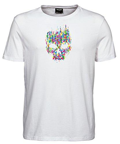 makato Herren T-Shirt Luxury Tee Mosaik SD White