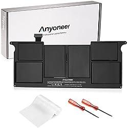 """Anyoneer A1406 A1495 5200mAh Bonne qualité Nouveau Batterie Ordinateur PC Portable pour Apple MacBook Air 11"""" inch A1370 (Mid 2011) A1465 (2012,2013,2014,2015) MC968 MD223 MD711 [Li-Polymer 7.6V ]"""