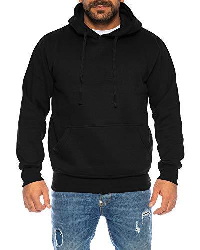 Raff&Taff Hoodie Kapuzenpullover Sweatshirt Sweater Pullover   S - 6XL   Sport Alltag Freizeit   Premium Baumwolle Fleece Innenseite (Schwarz, 5XL)