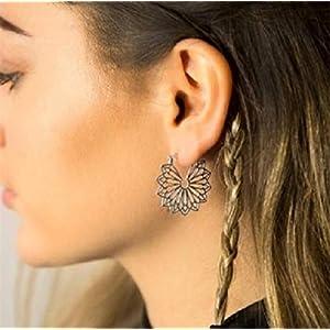 ✿ GEZACKTE TRIBAL BOHO RINGE ✿ seitliche Ohrringe