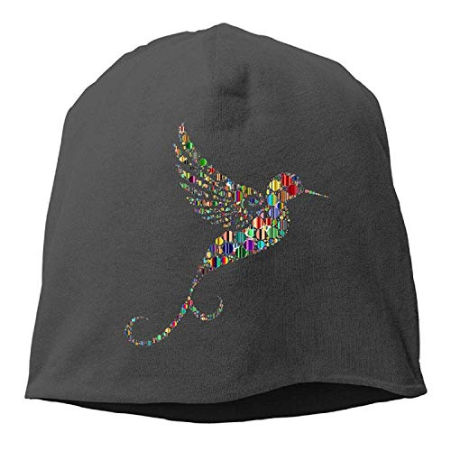 DHNKW Color Wave Point Hummingbird Winter Beanie Skull Cap Warm Knit Ski Slouchy Hat Durable -