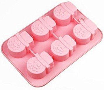 'Allforhome 6Weihnachten Schneemann Muffin Tassen handgefertigte Seife Formen Ice Cube Tablett DIY Form Silikon Kuchen Form zum Backen Kuchen, Pfanne
