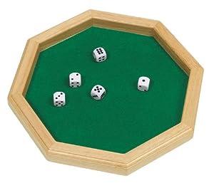 Goki-56954 Juegos de acción y reflejosJuegos educativosGOKICubilete, Color marrón, Verde (4013594569545)