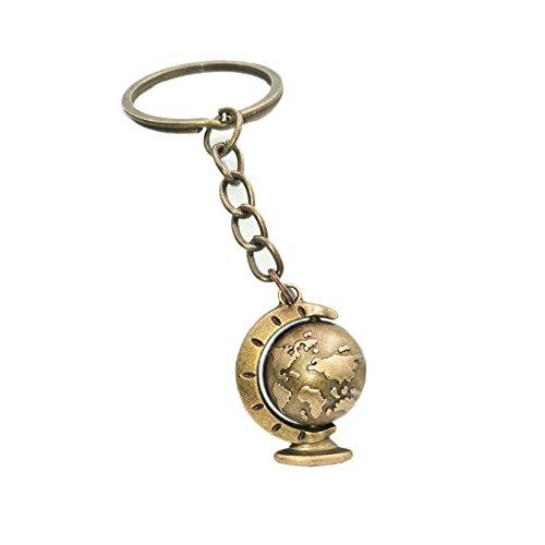 Schlüsselanhänger Globus Erde Weltkugel Himmelskugel bronze Anhänger Keychain