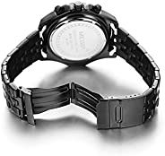 Megir Watch For Men, Stainless Steel Band, Chronograph, 2007-22, Analog Display