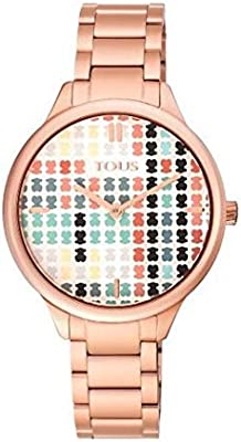 Reloj TOUS 900350095 Tartan Acero IP Rosado